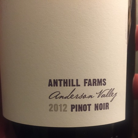 Anthill Farms Anderson Valley Pinot Noir 2014