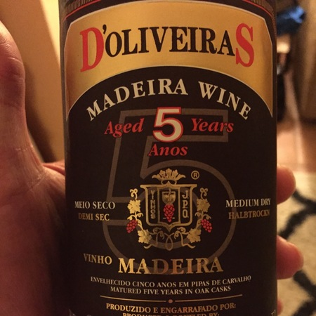 D'Oliveiras Aged 5 Years Madeira Medium Dry Red Blend NV
