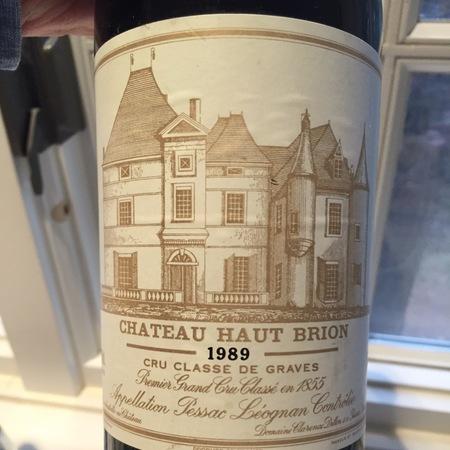 Château Haut-Brion Pessac-Léognan Red Bordeaux Blend 1989