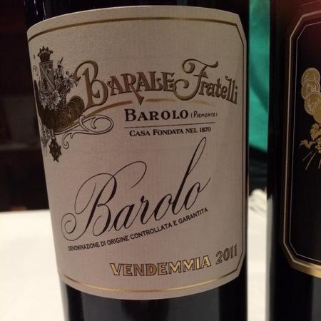 Fratelli Barale Barolo Nebbiolo 2011