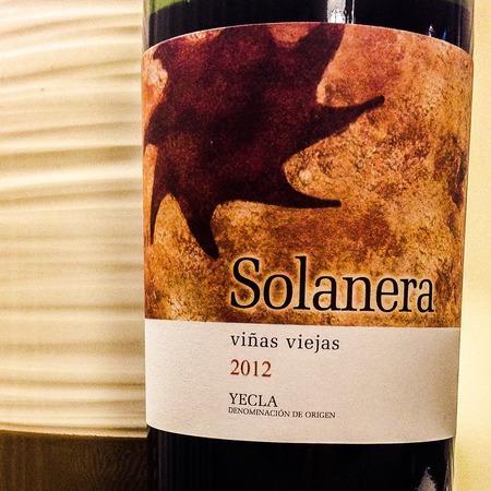 Familia Castaño Solanera Viñas Viejas Yecla Mourvedre Blend 2015