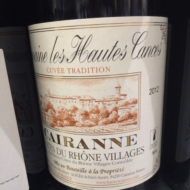 Vieilles Vignes Côtes du Rhône Villages Cairanne 2012