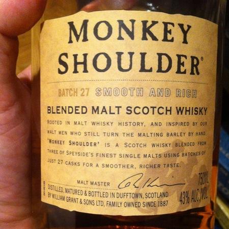 William Grant & Sons Monkey Shoulder Batch 27 Blended Malt Scotch Whiskey NV