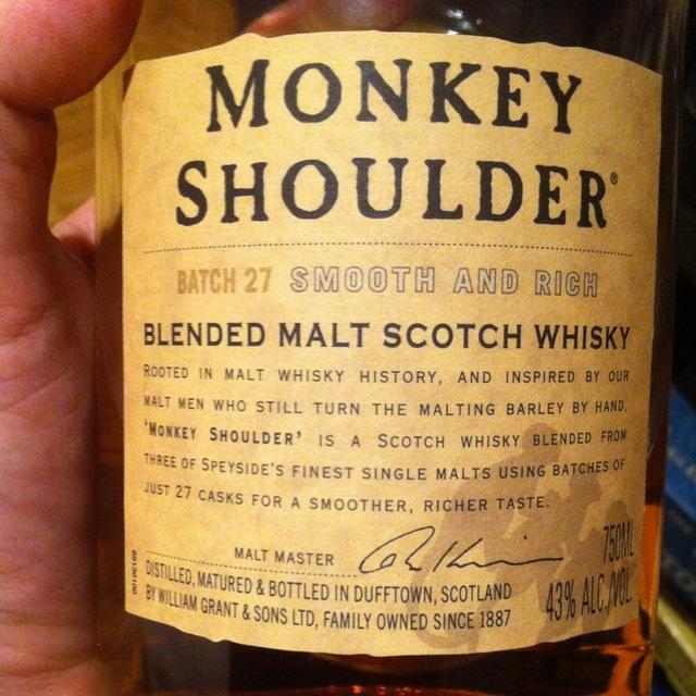 Monkey Shoulder Batch 27 Blended Malt Scotch Whiskey NV
