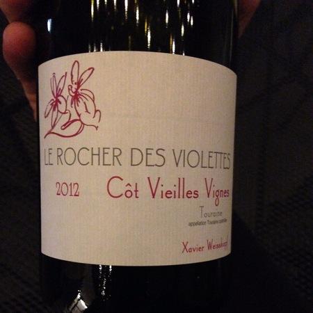Le Rocher des Violettes (Xavier Weisskopf) Vieilles Vignes Touraine Côt  2014