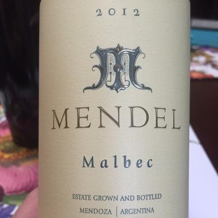 Mendel Wines Mendoza Malbec 2014