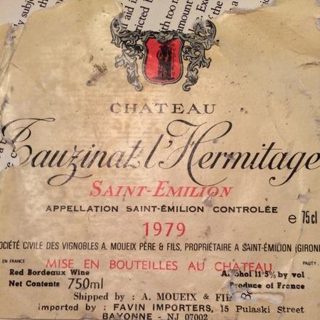 Château Tauzinat L'Hermitage St. Émilion Red Bordeaux Blend 2015