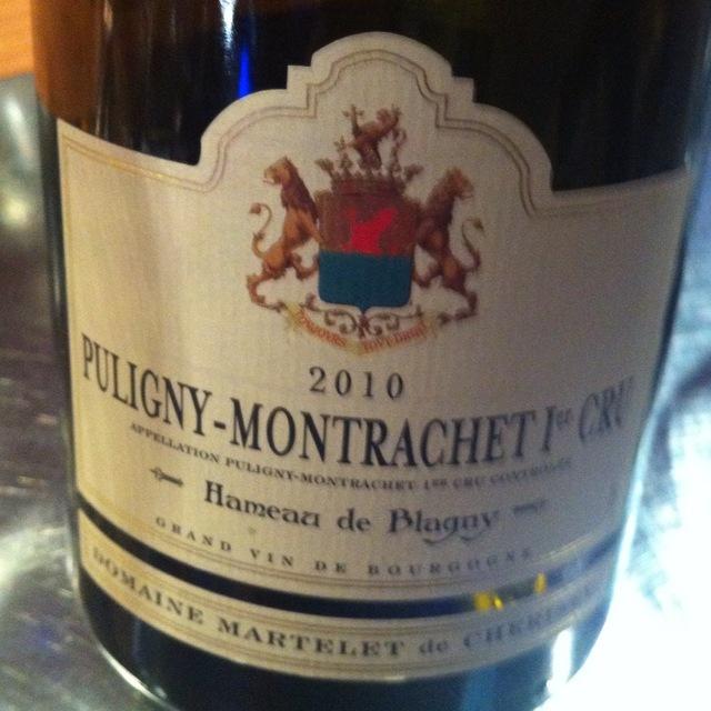 Hameau de Blagny Puligny-Montrachet 1er Cru Chardonnay 2010