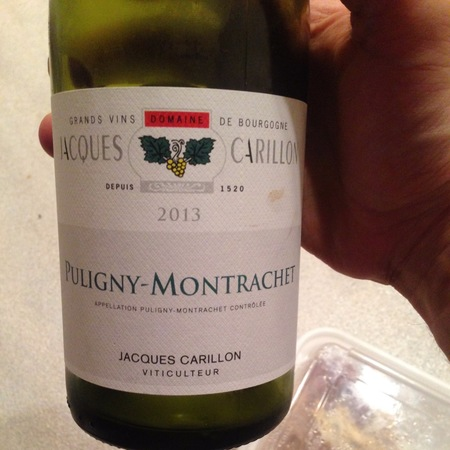 Domaine Jacques Carillon Puligny-Montrachet Chardonnay 2013