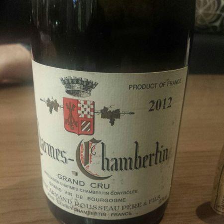 Domaine Armand Rousseau  Charmes-Chambertin Grand Cru Pinot Noir 2012