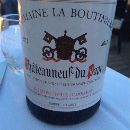 Domaine la Boutinière Châteauneuf-du-Pape Red Rhone Blend 2012