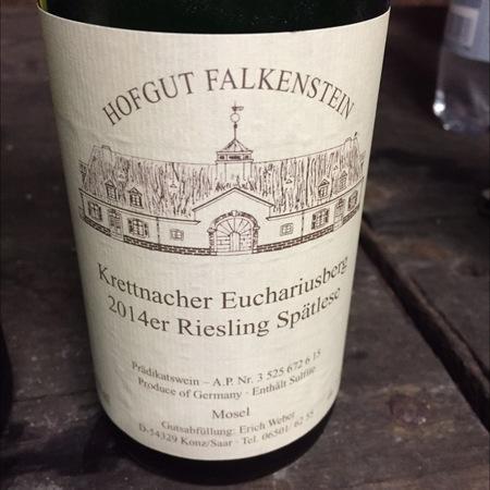 Hofgut Falkenstein Krettnacher Euchariusberg Spätlese Riesling 2016