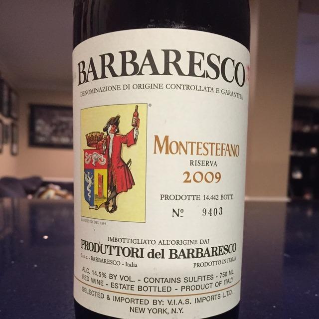 Montestefano Riserva Barbaresco Nebbiolo 2009