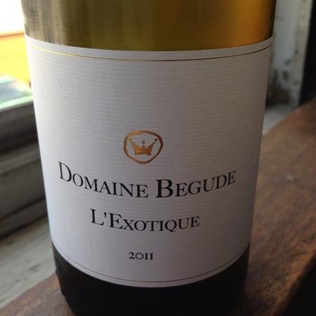 Domaine Bégude L'Exotique White Blend 2013