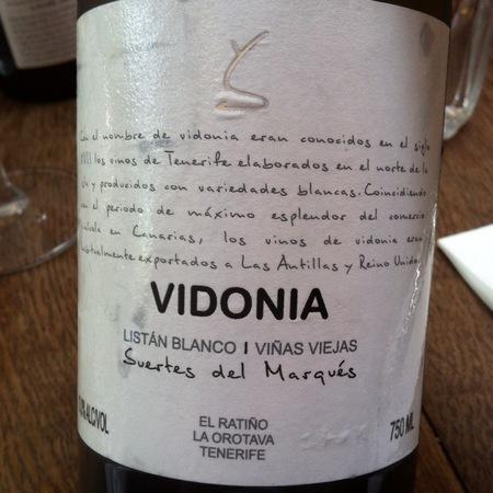 Suertes del Marques  Vidonia Viñas Viejas Valle de la Orotava Listan Blanco 2016