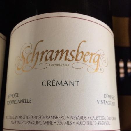 Schramsberg Vineyards Crémant Demi-Sec Flora Blend 2013