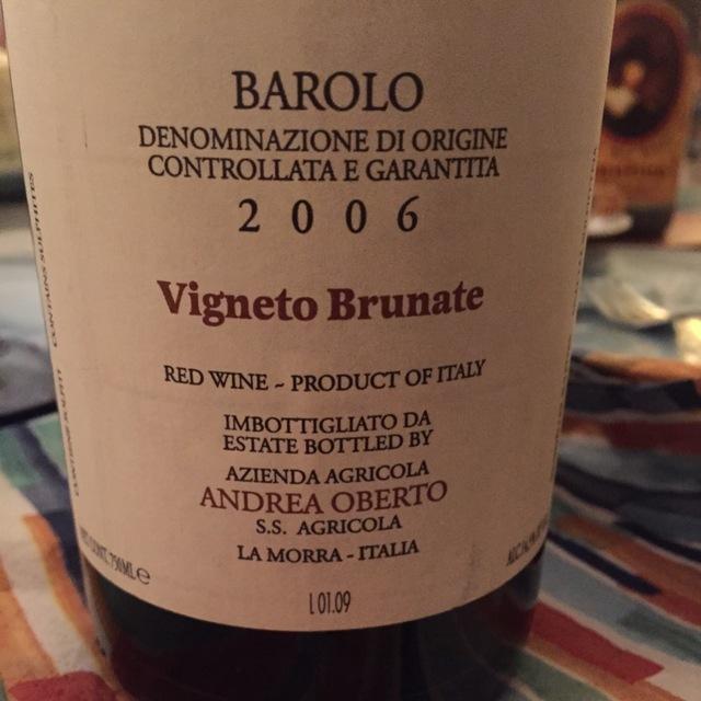 Rocche Barolo Nebbiolo 2006