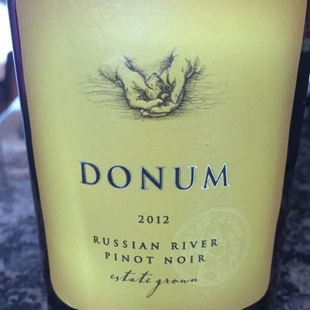 Donum Estate Grown Russian River Valley Pinot Noir 2012