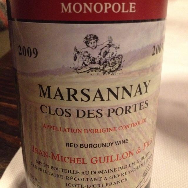 Clos des Portes Monopole Marsannay Pinot Noir 2013