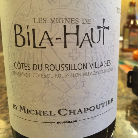 M. Chapoutier Domaine de Bila-Haut Côtes du Roussillon Villages Grenach Blend 2016 (750ml 12bottle)