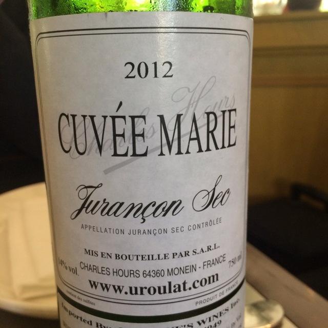 Cuvée Marie Jurançon Sec Gros Manseng / Petit Courbu 2013