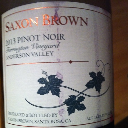 Saxon Brown Ferrington Vineyard Pinot Noir 2013