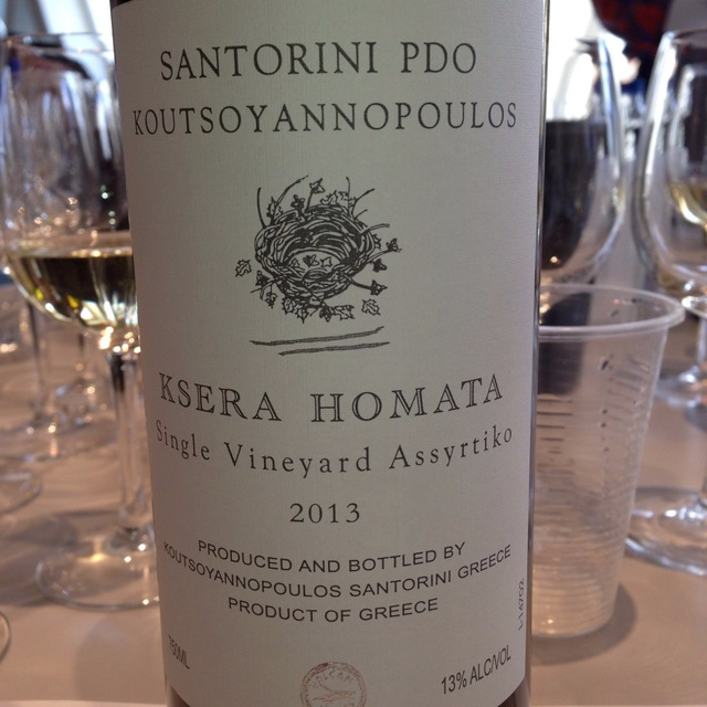 Ksera Homata Single Vineyard Assyrtiko 2013
