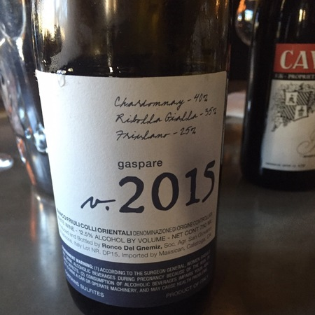 Massican Gaspare Chardonnay Blend 2015
