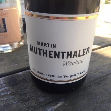 Martin Muthenthaler Vergelt's Gott  Grüner Veltliner 2015