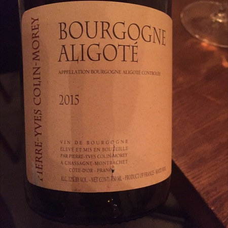 Pierre-Yves Colin-Morey Bourgogne Aligote 2015