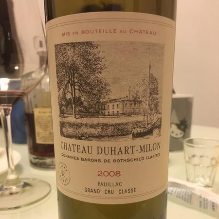 Château Duhart Milon Pauillac Red Bordeaux Blend 2008