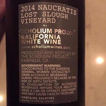 Scholium Project Naucratis Lost Slough Vineyards Verdelho 2015