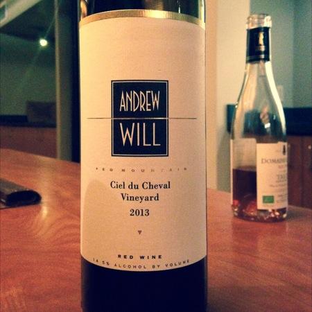 Andrew Will Ciel du Cheval Vineyard Cabernet Franc Blend 2013