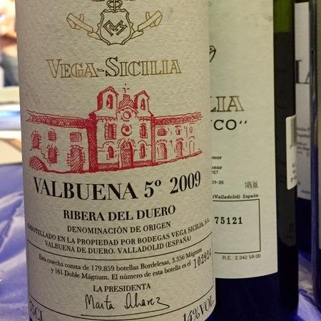 Bodegas y Viñedos Vega Sicilia Valbuena 5° Ribera del Duero Tempranillo Blend NV