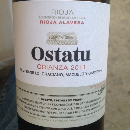 Bodegas Ostatu Crianza Rioja Alavesa Tempranillo Blend 2013