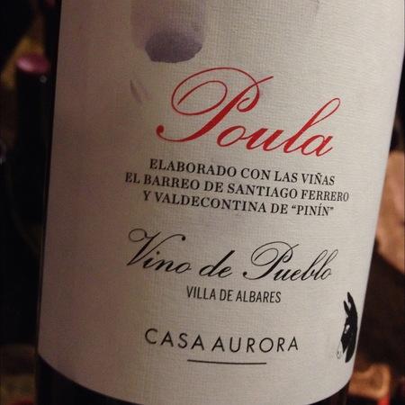 Casa Aurora Poula Vino de Pueblo Red Blend 2014