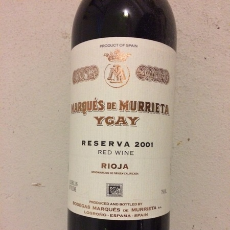 Marqués de Murrieta Ygay Reserva Rioja Tempranillo 1982