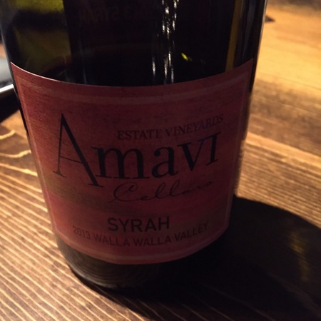 Amavi Cellars Walla Walla Valley Syrah 2013