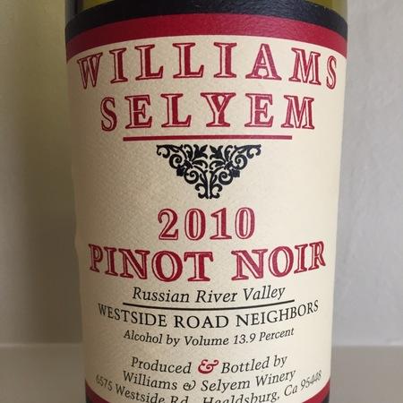 Williams Selyem Westside Road Neighbors Pinot Noir 2010
