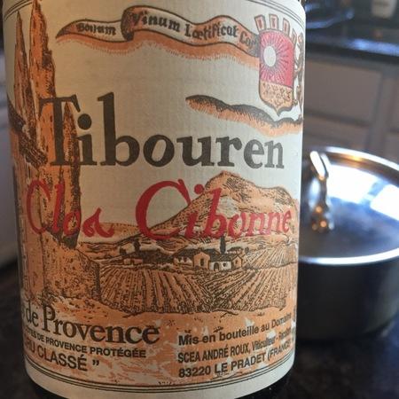 Cibonne Clos Cibonne Côtes de Provence Cru Classé Rosé Tibouren 2015