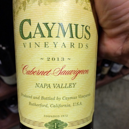Caymus Vineyards Napa Valley Cabernet Sauvignon 2015