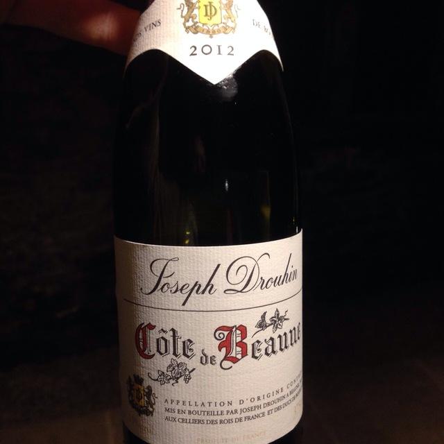Côte de Beaune Pinot Noir 2012