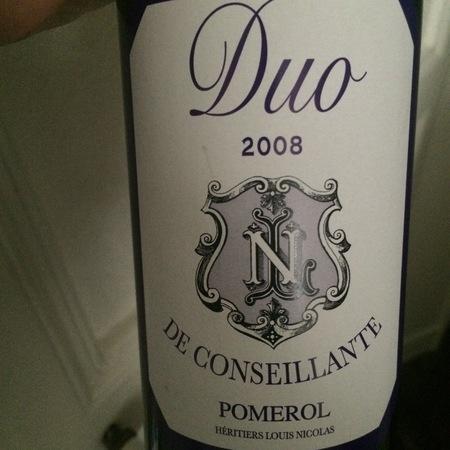 Château La Conseillante Duo de Conseillante Pomerol Red Bordeaux Blend 2012