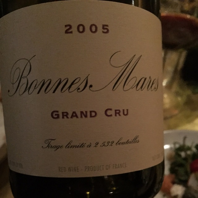 Bonnes Mares Grand Cru Pinot Noir 2005