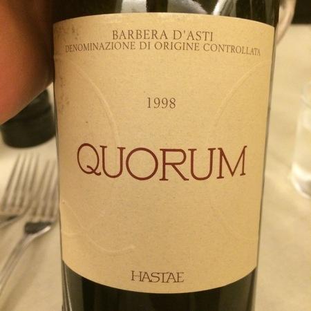 Hastae Quorum Barbera d'Asti Barbera 1998