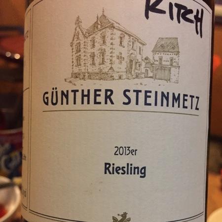 Weingut Günther Steinmetz Mosel-Saar-Ruwer Riesling 2015