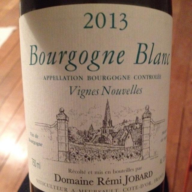 Vignes Nouvelles Bourgogne Blanc Chardonnay 2013