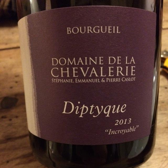 Diptyque Incroyable Bourgueil Cabernet Franc 2013