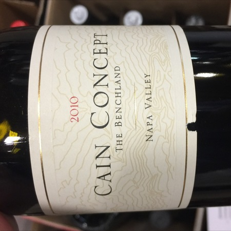 Cain Vineyard & Winery Cain Concept The Benchland Napa Valley Cabernet Sauvignon Blend 2010