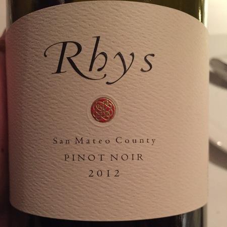 Rhys Vineyards San Mateo County Pinot Noir 2012